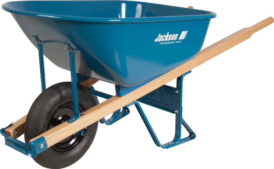 6 Cubic Ft Steel Contractor Wheelbarrow With Flat Free Tire
