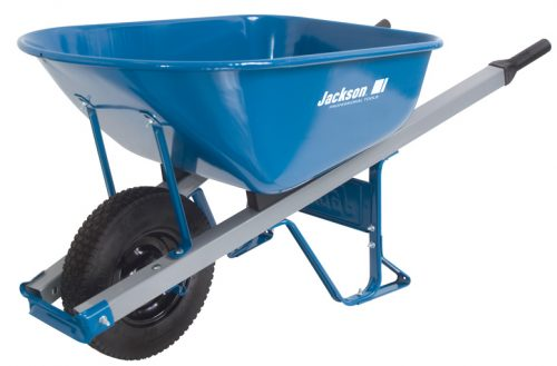Steel handled wheelbarrow