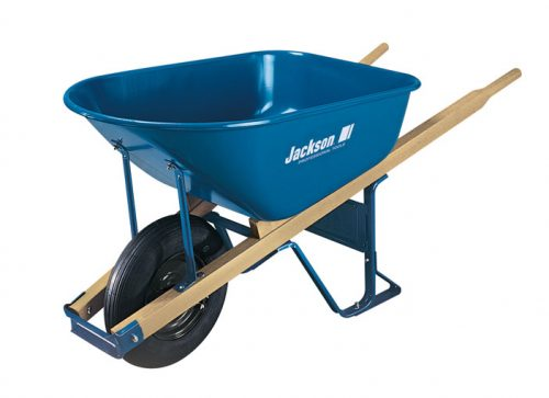 Professional grade steel wheelbarrow