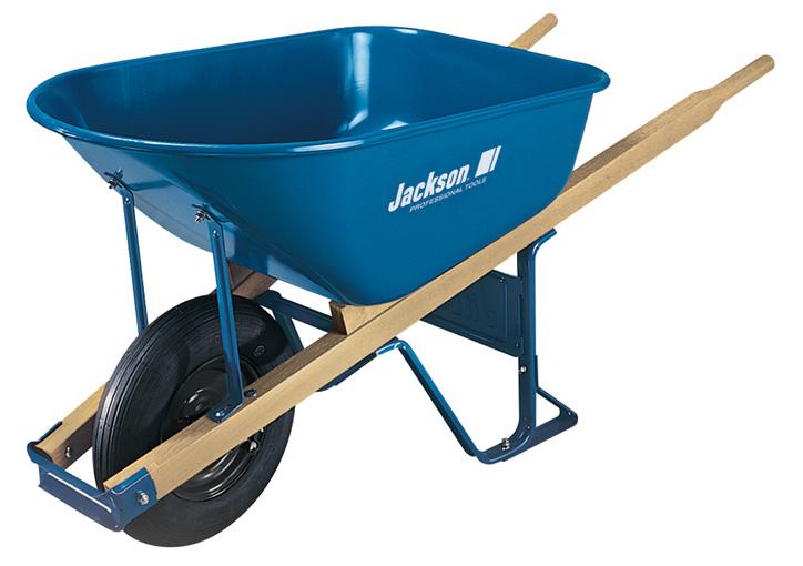 6 Cubic Ft Steel Contractor Wheelbarrow Jackson Professional