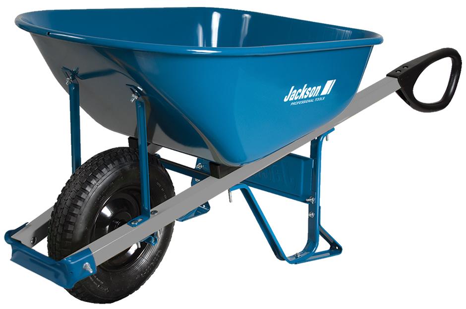 6 Cubic Ft Total Control Wheelbarrow Jackson Professional