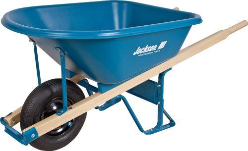 5.75 cubic foot poly contractor wheelbarrow